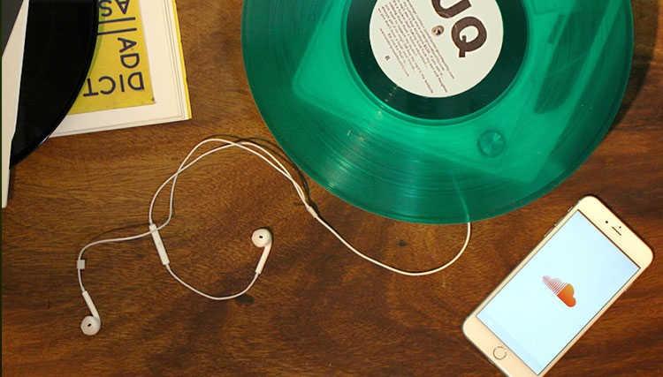 هر آهنگی در ساوندکلاود می تواند تبدیل به Vynil شود