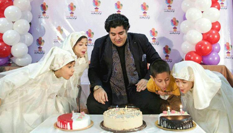 جشن تولد سالار عقیلی با معلولان ذهنی