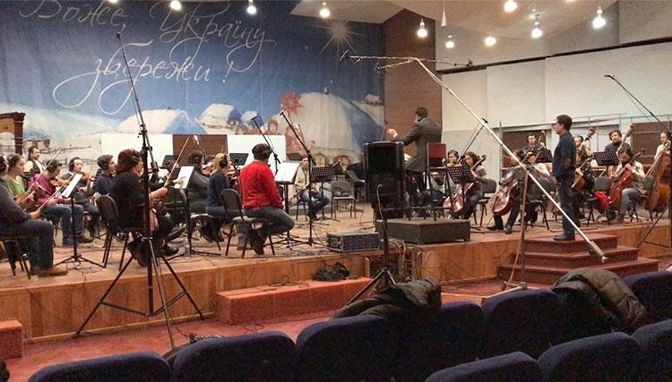 موسیقى «پشت دیوار سکوت» در اوکراین اجرا و ضبط شد