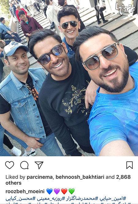 امین حیایی در پشت صحنه سریال ساخت ایران 2
