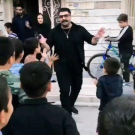 بهنام بانی در میان کودکان قرچک ورامین